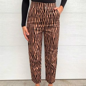 Zara Tiger Print Dress Pants NWT
